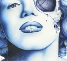 Marilyn Monroe - Live Fast Sticker