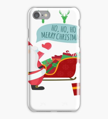 Ugly Christmas- Santa Ugly christmas sweat 1c iPhone Case/Skin