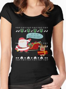 Ugly Christmas- Santa Ugly christmas sweat 1c Women's Fitted Scoop T-Shirt