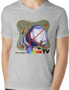 R U ready for Color TV?  Mens V-Neck T-Shirt