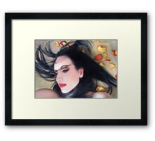 The Beautiful Prisoner - Self Portrait Framed Print