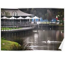 Winter's Quiet, Lake Weeroona Tea House Poster