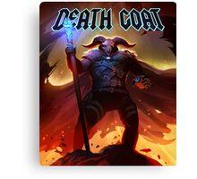 DEATH GOAT Cursed to Die Canvas Print