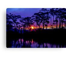 Bush Fire Sunset Canvas Print