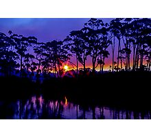 Bush Fire Sunset Photographic Print