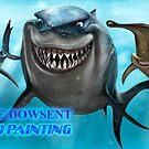 SHARK ATTACK SPEED PAINTING by Wayne Dowsent