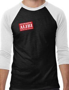 Criminal Intent ...Establishing Alibi... Men's Baseball ¾ T-Shirt