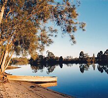 Boat on Lake at Failford NSW Australia by Sandy1949