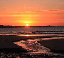 Shell Creek ,sunset. by Eunice Atkins