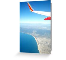 Flying over LA. Greeting Card
