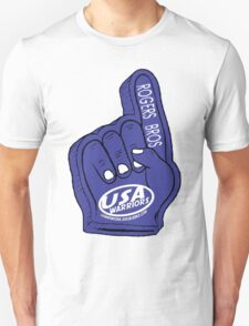 usa warriors foam hand by rogers bros T-Shirt
