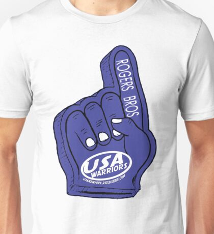 usa warriors foam hand by rogers bros Unisex T-Shirt
