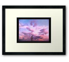 ©HCS Pink Tower Cloudscape I Framed Print