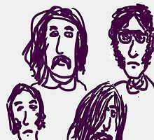 CSNY Crosby, Stills, Nash & Young DRAWING DAY  by Stacey Lazarus
