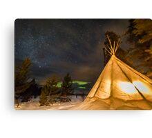 Aurora Tent Canvas Print