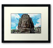 Smiling Buddha - Cambodia Framed Print
