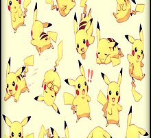 Pikachu shirt, poster, iphone case, etc. by Kerrisaurus