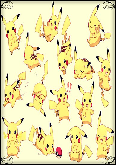 Pikachu shirt, poster, iphone case, etc. by Kerrisaurus