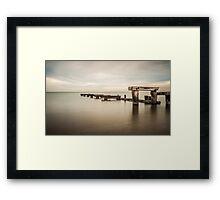 Sittin On The Dock of The Bay Framed Print