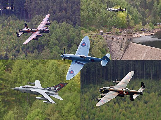 A Selection of Images Taken At The Derwent Dam During The Flypast on the 16th May 2013 - Reworked by Colin J Williams Photography