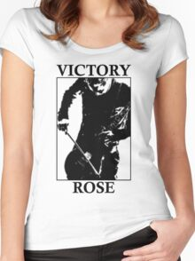 Victory Rose in Black Women's Fitted Scoop T-Shirt