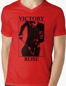 Victory Rose in Black Mens V-Neck T-Shirt