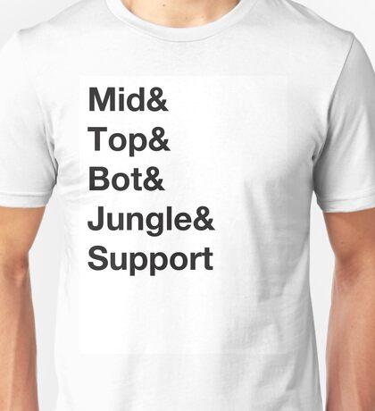 Roles, League of Legends Unisex T-Shirt