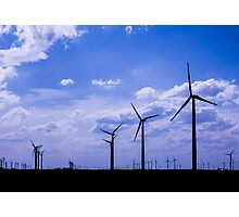 Wind Turbines-Silhoutte Photographic Print