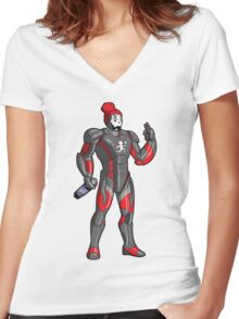 Iron Juggalo Women's Fitted V-Neck T-Shirt