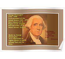 George Washington - 1732 to 1799 Poster