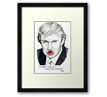 The Serious Loan Framed Print