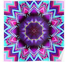 The Flowering Kaleidoscope, Fractal artwork Poster