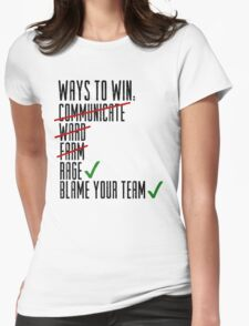 Ways To Win Womens Fitted T-Shirt