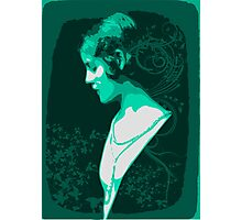 Green Lady Photographic Print