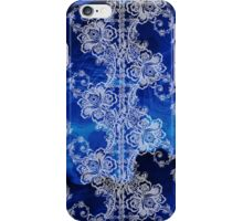 White Lace on Swirling Blues iPhone Case/Skin