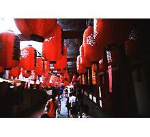Red Lanterns - Lomo Photographic Print