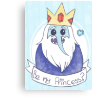 The Ice King is searching for his Princess Canvas Print