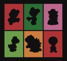 Mario and friends by MarenaArt