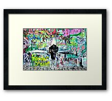 Be nice. The world is a small town. Framed Print