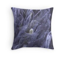 Chrystal on black Paper Throw Pillow