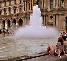 Chilling at the fountain by Laranja Sanguínea