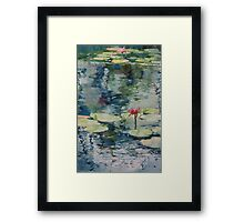 Nymph Echo, watercolor on paper Framed Print