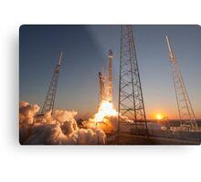 SpaceX Sunset Rocket Launch Metal Print