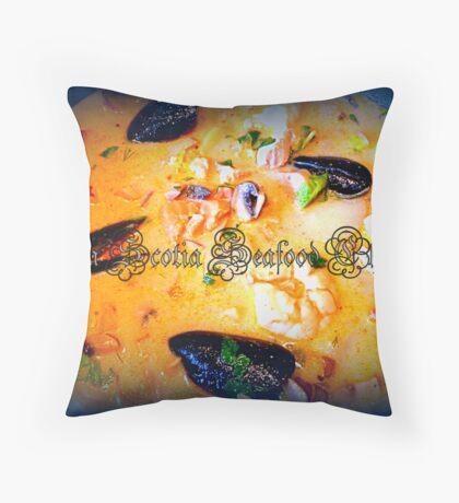 Nova Scotia Seafood Chowder Throw Pillow