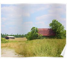OLD BARN OUTSIDE MEMPHIS, INDIANA Poster