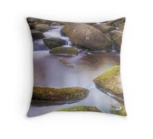 Burbage Brook at Padley Gorge Throw Pillow