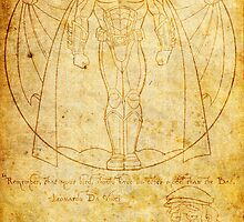 Vitruvian Bat by joshjen10
