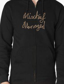 Mischief Managed Zipped Hoodie