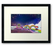Rainbow Islands retro pixel art Framed Print