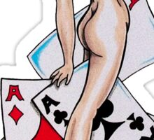 Five Aces Tattoo Pinup Girly Sticker
